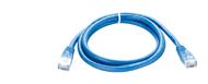 NCB-5EUBLUR1-1 D-Link Cat5E UTP 24 AWG Round Patch Cord - 1M Blue Color