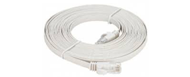NCB-C6UWHIF1-3-D-Link-Cat6-UTP-32-AWG-Flat-Patch-Cord-3M-White-Color