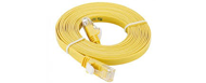 NCB-C6UYELF1-1-D-Link-Cat6-UTP-32-AWG-Flat-Patch-Cord-1M-Yellow-Color